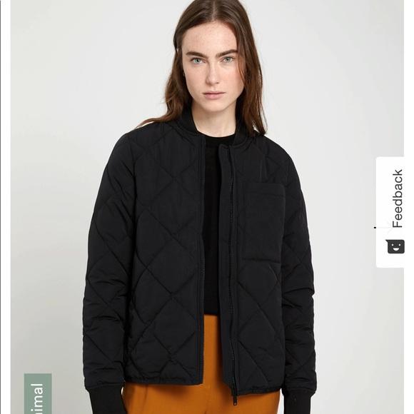 Sky line water repellent packable bomber jacket
